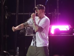 Eminem has revealed his surprise performance at the Oscars was almost derailed by loose microphone equipment (Yui Mok/PA)