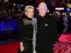 Max Von Sydow and wife Catherine Brelet attend the Star Wars: The Force Awakens European premiere in 2015 (Ian West/PA)