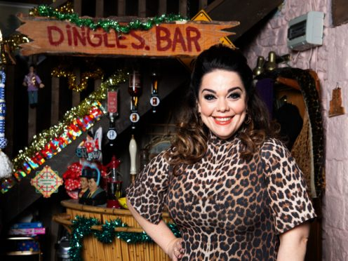 Lisa Riley playing Mandy Dingle (ITV/PA)
