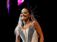 Rita Ora hit her head during a live stream while exercising at home (Isabel Infantes/PA)