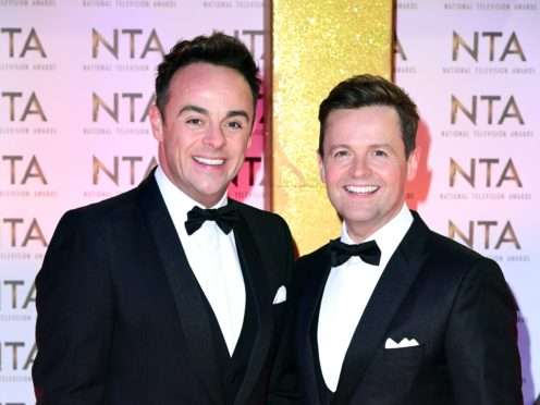 Anne-Marie appeared alongside Anthony McPartlin and Declan Donnelly (Ian West/PA)