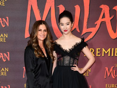 Niki Caro and Liu Yifei at the Mulan premiere (Ian West/PA)