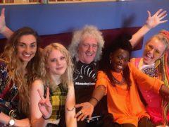 Brian May with Kings Daughters (Kings Daughters/Brian May/PA)