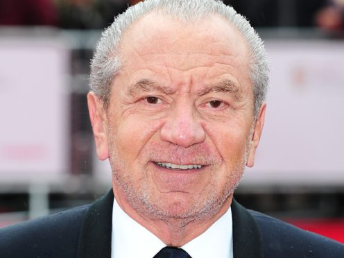 Lord Sugar and his wife have been married for 52 years (Ian West/PA)