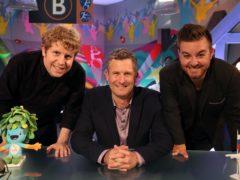 Josh Widdicombe, Adam Hills and Alex Brooker (Andrew Matthews/PA)