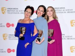 Fiona Shaw, Phoebe Waller-Bridge and Jodie Comer (Ian West/PA)