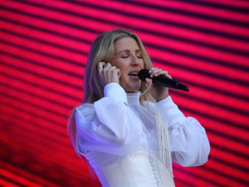 Ellie Goulding is one of more than 20 artists on the song (Isabel Infantes/PA)