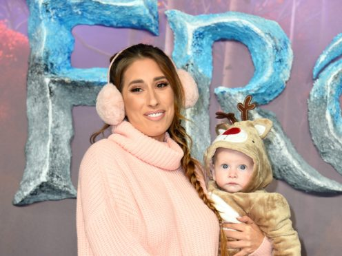 Stacey Solomon and Rex (Matt Crossick/PA)