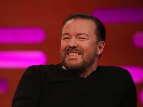Ricky Gervais has revealed he cries tears of joy every day (Isabel Infantes/PA)