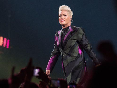 Pink said she tested positive for the coronavirus (Katja Ogrin/PA)