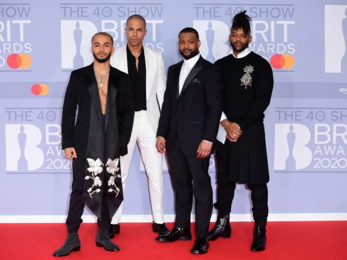 Aston Merrygold, Marvin Humes, JB Gill and Oritse Williams of JLS (Ian West/PA)