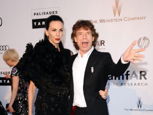 L'Wren Scott and Mick Jagger (Ian West/PA)