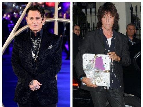 Johnny Depp and Jeff Beck (PA)