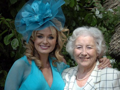 Katherine Jenkins sings with Dame Vera Lynn on the song (PA)