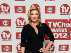 Emmerdale's Claire King has said her Kim Tate character was not based on Dame Joan Collins's 'classic soap bitch' Alexis Carrington (Ian West/PA)