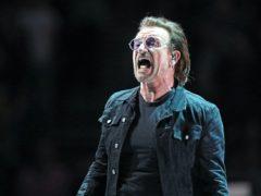 U2's Bono helped the charity auction (Andrew Matthews/PA)