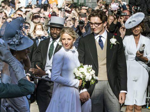 Ellie Goulding and Caspar Jopling (Danny Lawson/PA)
