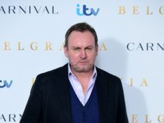 Philip Glenister appeared in the video as TV cop DCI Gene Hunt (Ian West/PA)
