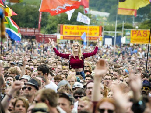 Crowds at Glastonbury (Ben Birchall/PA)