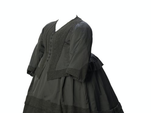 Queen Victoria's dress worn when in mourning for her grandson is in the exhibition (Museum of London)
