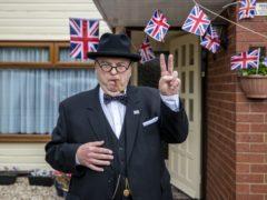 Derek Herbert a Sir Winston Churchill impersonator from Little Neston, Wirral(Peter Byrne/PA)