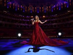 Katherine Jenkins performs behind closed doors at the Royal Albert Hall (Getty)