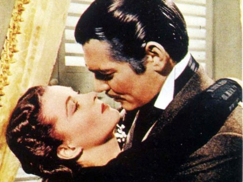 Vivien Leigh and co-star Clark Gable in their famous clinch in the 1939 blockbuster Gone With the Wind (PA)