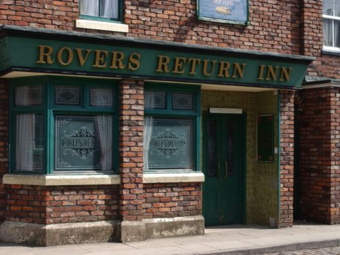 Rovers Return Inn on the set of the soap Coronation Street (ITV/PA)