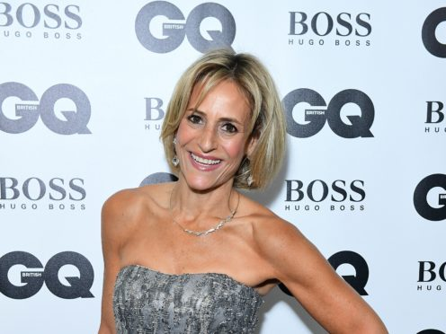 Emily Maitlis returned to Newsnight for the first time since the controversy over her comments on Boris Johnson's top aide (Ian West/PA)