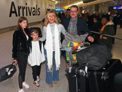 Kate Garraway, alongside her husband Derek Draper and two children Darcey, 13, and Billy, 10 (Steve Parsons/PA)