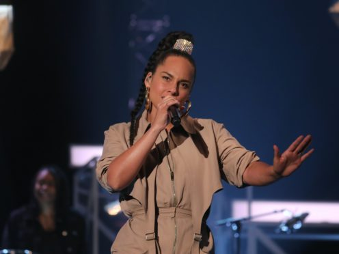 Alicia Keys performed a haunting rendition of her new song which was inspired by the Black Lives Matter movement (Isabel Infantes/PA)