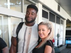 Love Island contestants Jess Gale and Ched Uzor (Andrew Matthews/PA)