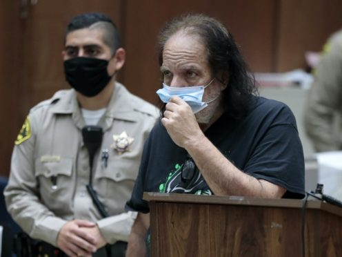 Adult film star Ron Jeremy has been charged with sexually assaulting four women, prosecutors in Los Angeles said (Robert Gauthier/Los Angeles Times via AP, Pool)