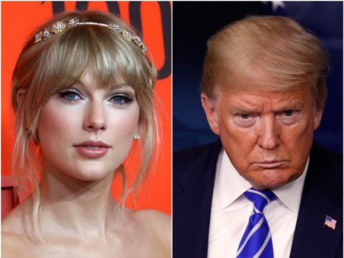 Taylor Swift has again set herself in opposition to Donald Trump (Greg Allen/Alex Brandon/PA)