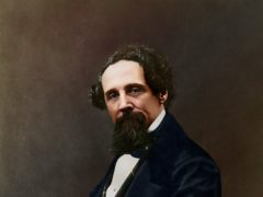 Colourised Charles Dickens, 1859, originally by Herbert Watkins (Charles Dickens Museum/Oliver Clyde)