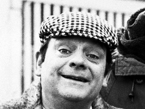 Del Boy falling through the bar during a classic episode of Only Fools And Horses is the nation's most memorable TV moment, a survey has found (PA)