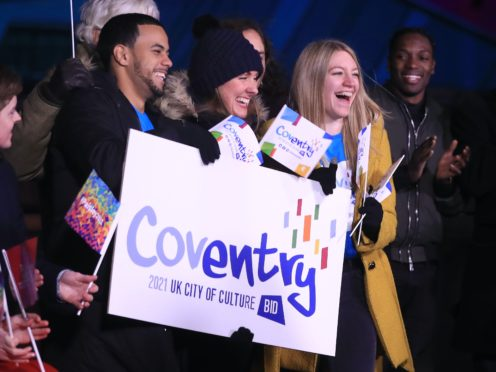 Celebrations as Coventry is named City of Culture 2021 (Danny Lawson/PA)