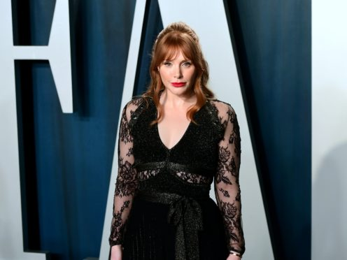 Bryce Dallas Howard showed off the bruises caused by her stunt work for the latest Jurassic World movie (Ian West/PA)