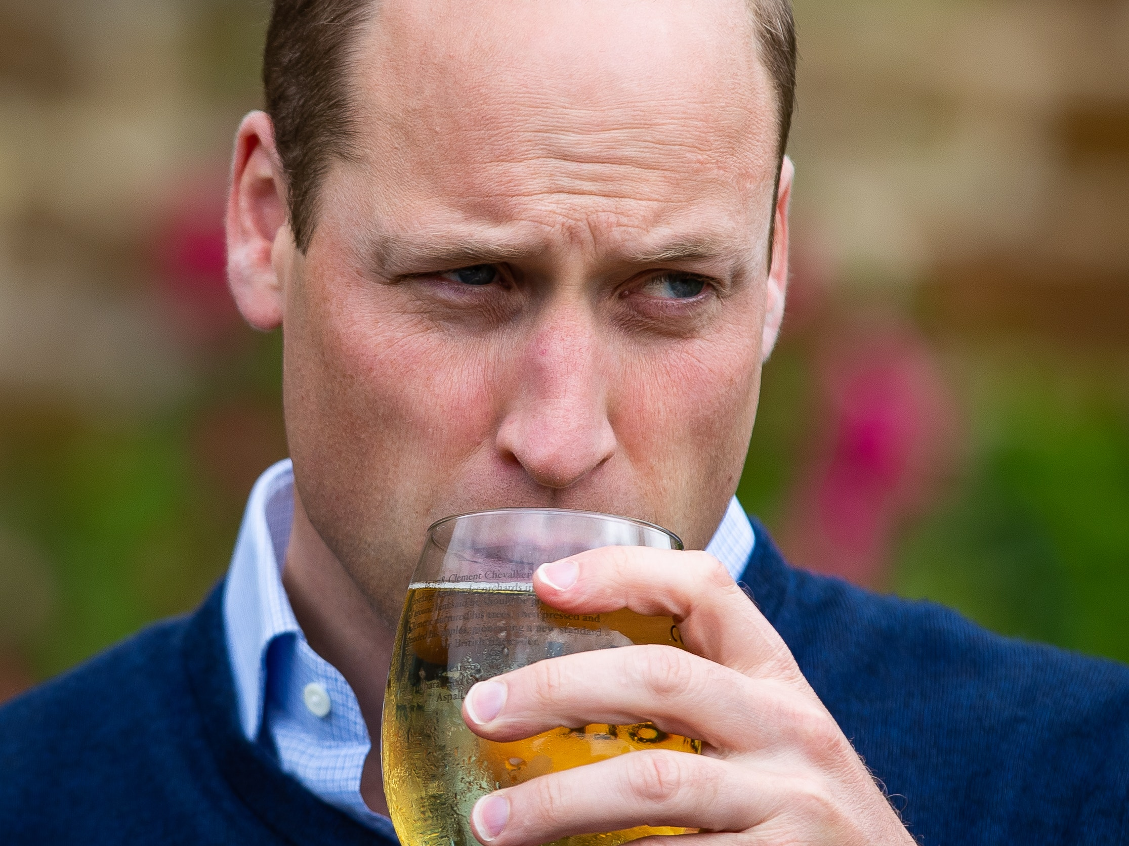William savours pint of cider ahead of pubs...