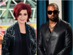 """Sharon Osbourne has called Kanye West """"embarrassing"""" after the billionaire rapper's fashion brand received loans from the US government (Ian West/PA)"""