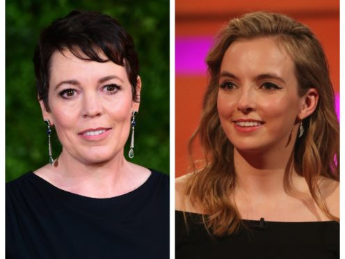 Olivia Colman and Jodie Comer are both up for Emmys (PA)