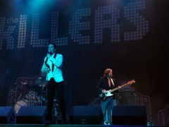 The Killers performing on the Pyramid Stage (Yui Mok/PA)