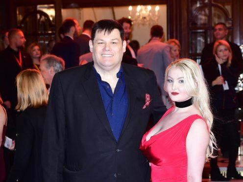 Mark Labbett and wife Katie Labbett attending an ITV Gala (Ian West/PA)