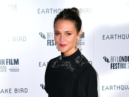 Alicia Vikander (Ian West/PA)