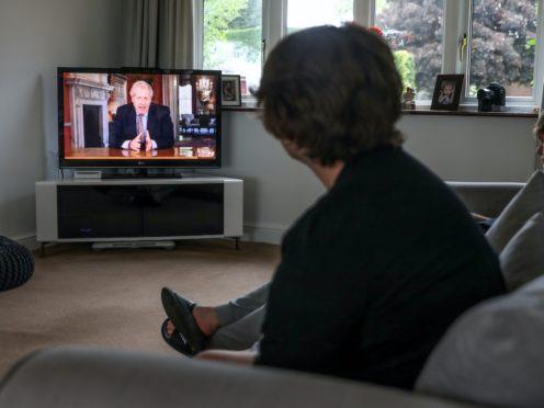 Boris Johnson's lockdown announcement on March 23 averaged 28 million viewers across all channels (David Davies/PA)