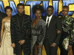 Michael B Jordan, Letitia Wright, Chadwick Boseman, Lupita Nyong'o, Daniel Kaluuya and Danai Gurira starred in Black Panther (Joel C Ryan/Invision/AP, File)