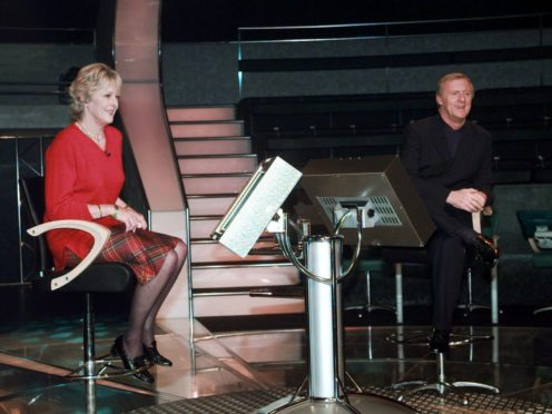 Who Wants to Be A Millionaire winner Judith Keppel with host Chris Tarrant (Peter Jordan/PA)