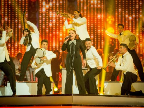 Gloria Estefan performing on Strictly Come Dancing in Blackpool (Guy Levy/BBC/PA)