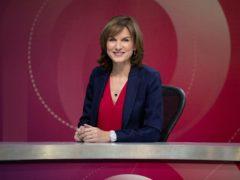 Fiona Bruce on the set of Question Time (Richard Lewisohn/BBC)