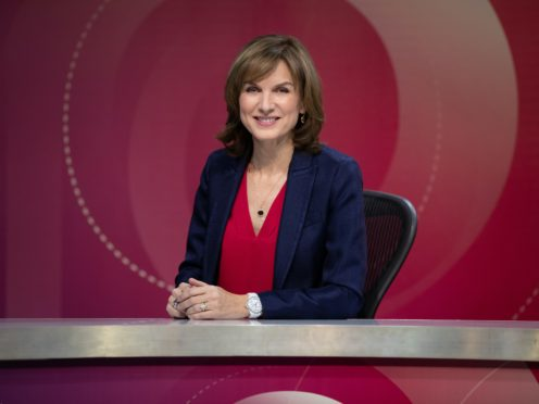 Fiona Bruce on the set of Question Time (Richard Lewisohn/BBC)